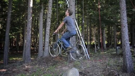 Bicycle Powered Tree House Elevator