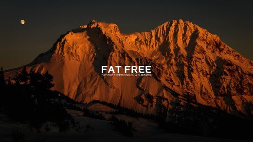 Fat Bike Freeriding on a Blizzard