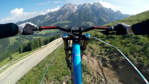 Leogang Downhill with Claudio Caluori