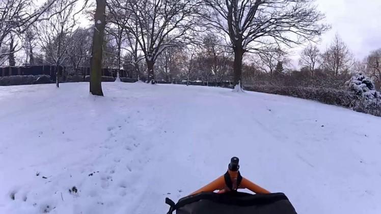 Snow in Regents Park, London