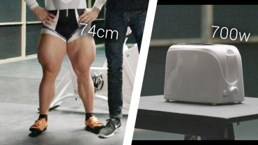Olympic Cyclist Vs. Toaster