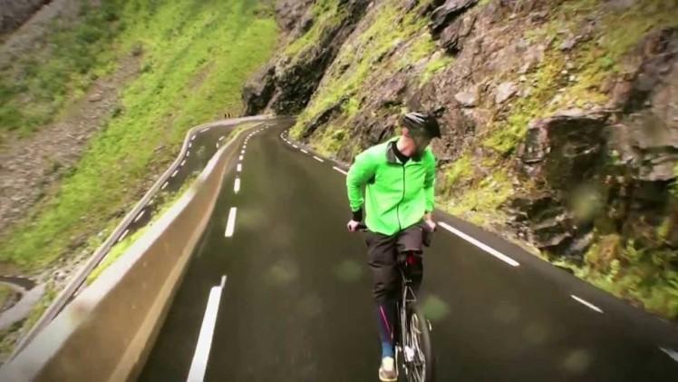 Riding backwards at 80 km/h
