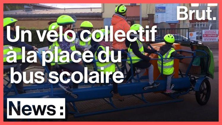 Le S'Cool Bus : un vélo collectif pour aller à l'école en pédalant