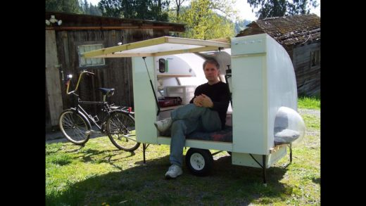 Bugout bicycle camper